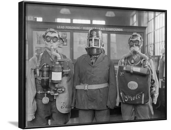 Industrial Gas Masks--Framed Photographic Print