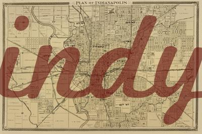 Indy - 1876, Indianapolis - Plan, Indiana, United States Map