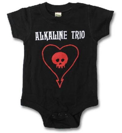 Infant: Alkaline Trio - ALK3 Heart Skull Onesie