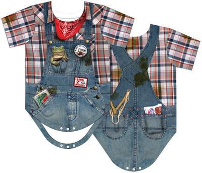 Infant: Hillbilly Costume Romper