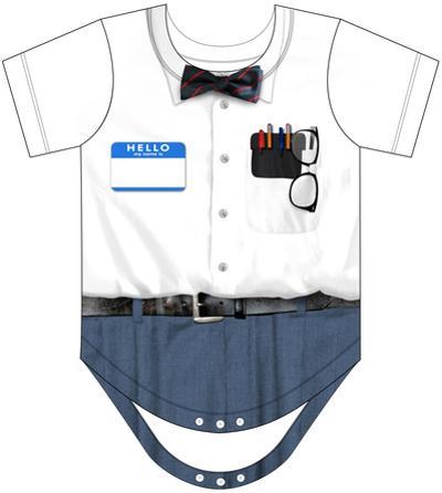 Infant: Nerd Costume Romper