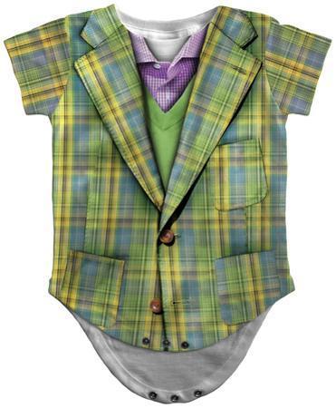 Infant: Plaid Suit Costume Romper