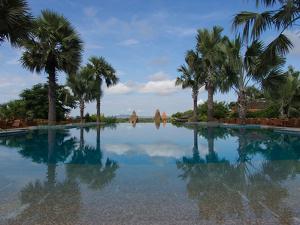 Infinity pool of Aureum Palace Hotel, Bagan, Mandalay Region, Myanmar