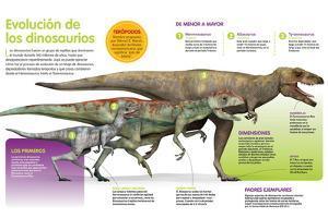 Infografía Que Muestra La Evolución De Los Dinosaurios a Lo Largo De La Era Mesozoica