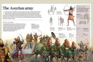 Infographic About the Assyrian Empire and its Army (900-612 BC)