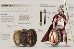 Infographic About the Hoplites, Volunteer Citizens of Classical Greece That Fought in War