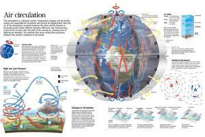 Infographic of the Circulation of the Winds and their Influence in the Climatic System
