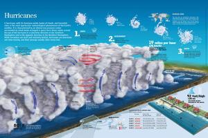Infographic of the Internal Structure of the Meteorological Phenomenon Hurricane