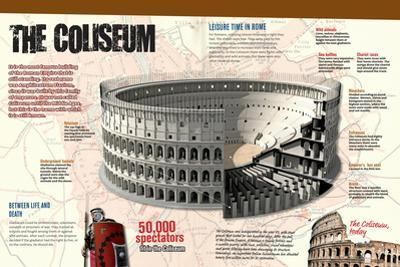 Infographic of the Roman Coliseum