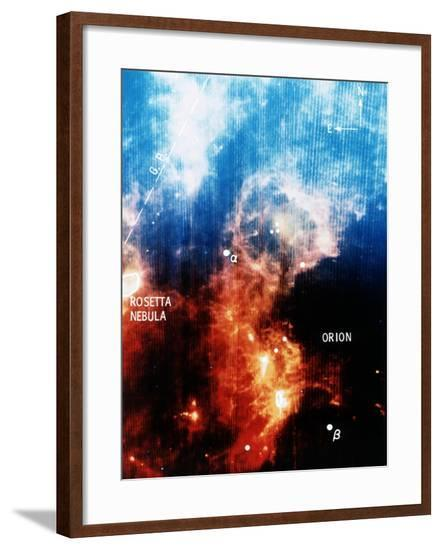 Infra-Red View of Constellation of Orion--Framed Giclee Print