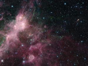 Infrared View Showing the Birth and Death of Stars