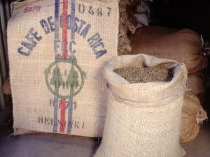 Bags of Coffee Beans in Costa Rica by Inga Spence