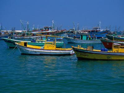 Colorful Fishing Boats, Alexandria, Egypt by Inga Spence