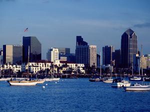 Skyline and Boats, San Diego, CA by Inga Spence
