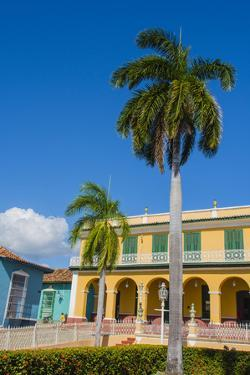 Cuba, Sancti Spiritus Province, Trinidad. Colorful Buildings Line the Squares by Inger Hogstrom