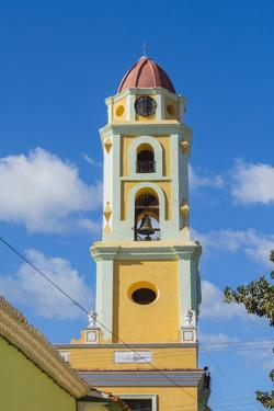 Cuba. Sancti Spiritus Province. Trinidad. Iglesia Y Convento De San Francisco Towers over the City by Inger Hogstrom