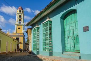Cuba, Sancti Spiritus Province, Trinidad. Iglesia Y Convento De San Francisco Towers over the City by Inger Hogstrom