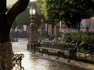 Early Morning, El Jardin, San Miguel de Allende, Mexico by Inger Hogstrom