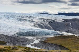Greenland. Kangerlussuaq. Retreating Russell glacier at the edge of the ice cap. by Inger Hogstrom