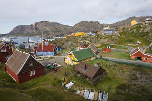 Greenland. Sisimiut. History museum from above. by Inger Hogstrom