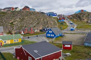Greenland. Sisimiut. Quaint and colorful Sisimiut. by Inger Hogstrom