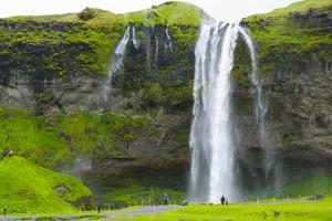 Iceland. South. Seljalandsfoss Waterfall by Inger Hogstrom