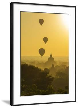 Myanmar. Bagan. Hot Air Balloons Rising over the Temples of Bagan by Inger Hogstrom