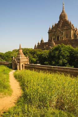 Myanmar. Bagan. Htilominlo Temple by Inger Hogstrom