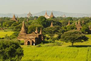 Myanmar. Bagan. the Plain of Bagan Is Dotted with Hundreds of Temples by Inger Hogstrom