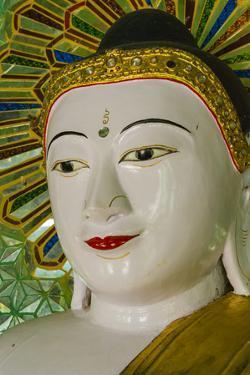 Myanmar. Mandalay. Sagaing Hill. Thirty Caves Temple. Buddha by Inger Hogstrom