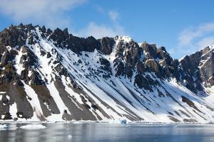 Norway. Svalbard. Hornsund. Heavily Eroded Peaks by Inger Hogstrom