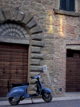 Scooter, Preggio, Umbria, Italy by Inger Hogstrom
