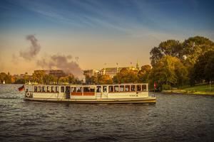 Germany, Hamburg, City Centre, the Alster, Outer Alster, Autumn by Ingo Boelter