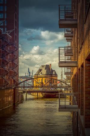 Germany, Hamburg, Elbe, the Port, Speicherstadt, Facades, Balconies