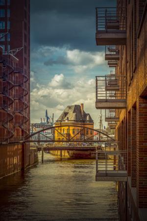 Germany, Hamburg, Elbe, the Port, Speicherstadt, Facades, Balconies by Ingo Boelter