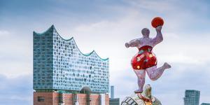 Germany, Hamburg, Hafencity, Harbour, Nanas, Elbphilharmonie by Ingo Boelter