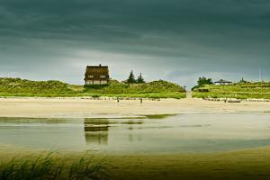 Germany, Schleswig-Holstein, Amrum, Sandy Beach, Sand Bank, Kniepsand by Ingo Boelter