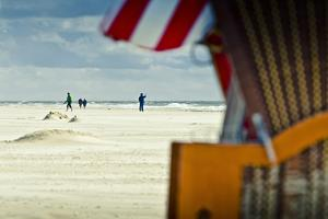 Germany, Schleswig-Holstein, Amrum, Sandy Beach, Sandbank, Kniepsand, Beach by Ingo Boelter