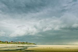 Germany, Schleswig-Holstein, Amrum, Sandy Beach, Sandbank, Kniepsand, Cloud Mood by Ingo Boelter