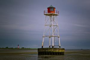 Germany, Schleswig-Holstein, Pellworm, Mud Flats, Wadden Sea, Lighthouse, Unterfeuer by Ingo Boelter