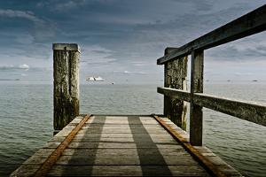 Germany, Schleswig-Holstein, Wyk, Beach, Jetty by Ingo Boelter