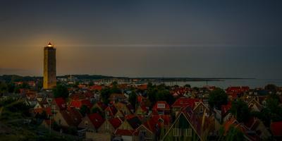 The Netherlands, Frisia, Terschelling, Lighthouse, Evening, Night