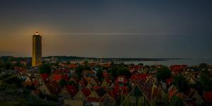 The Netherlands, Frisia, Terschelling, Lighthouse, Evening, Night by Ingo Boelter