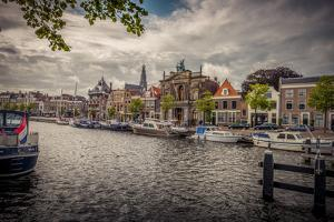 The Netherlands, Haarlem, Canal, Shore, Waterside Promenade by Ingo Boelter