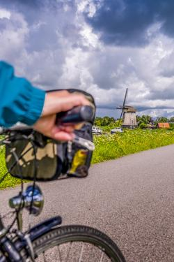 The Netherlands, Tour, Bike, Cycling Tour, Bicycle, Hand, Close-Up, Detail by Ingo Boelter