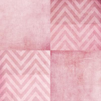 Dusty Pink Chevron by Ingrid Beddoes