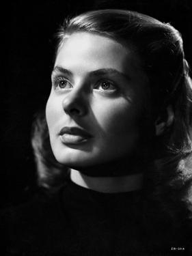 Ingrid Bergman Looking Up in Close Up Angle by E Bachrach