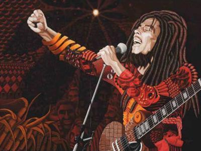 Bob Marley by Ingrid Black