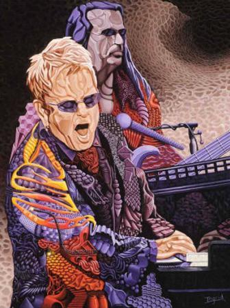 Elton John by Ingrid Black