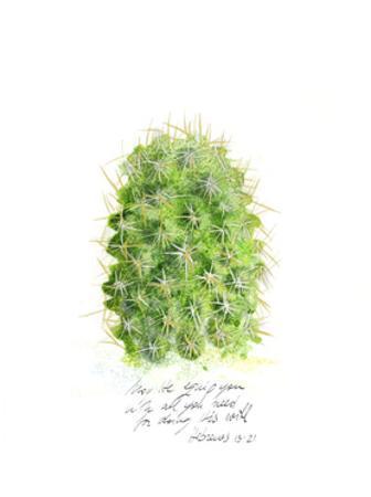 Cactus Verse I by Ingrid Blixt